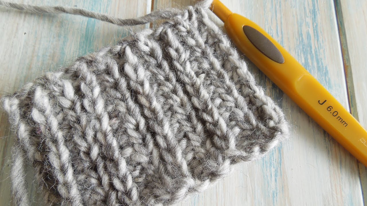 Knitting Crocheting : How to crochet looks like knitting with half double
