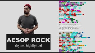Aesop Rock - None Shall Pass - Verse 1 & 2 - Lyrics, Rhymes Highlighted (056)
