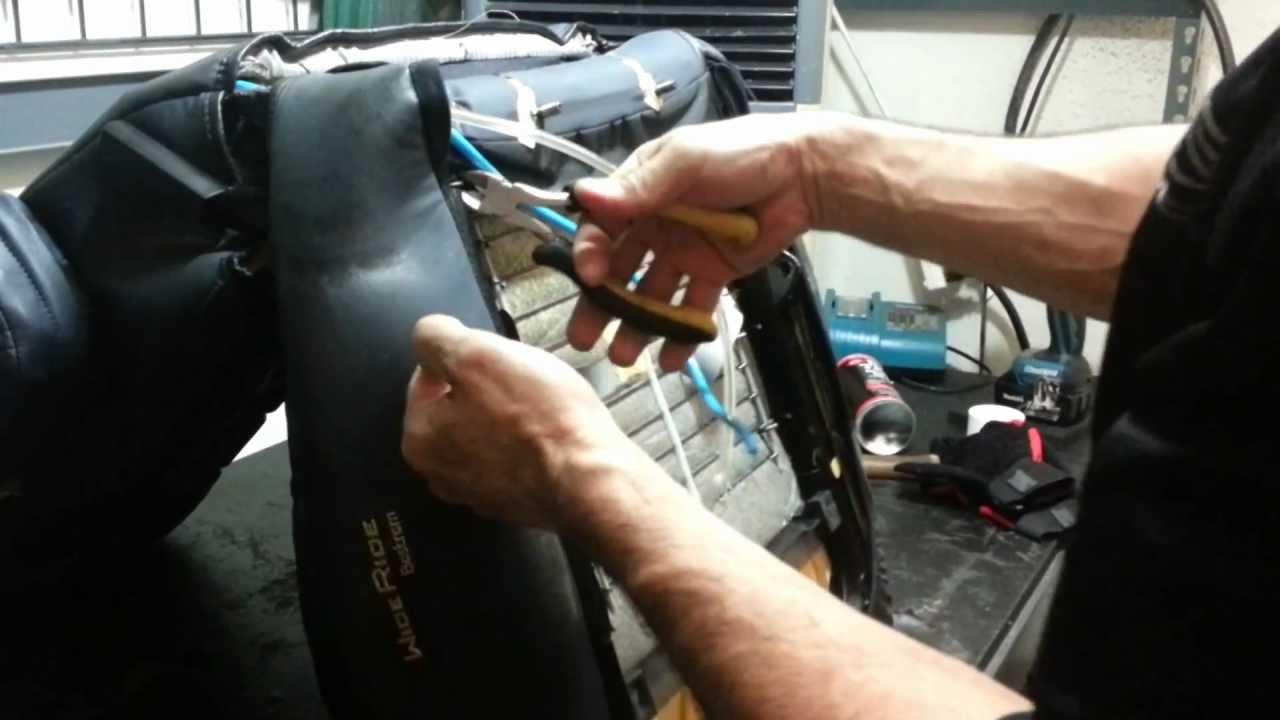 BOSTROM WIDE RIDE Full Seat Restore 1 Bottom Cushion Removal