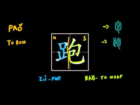 How to write Chinese characters - 跑 pao3