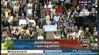 Barack Obama after winning Wisconsin - 1