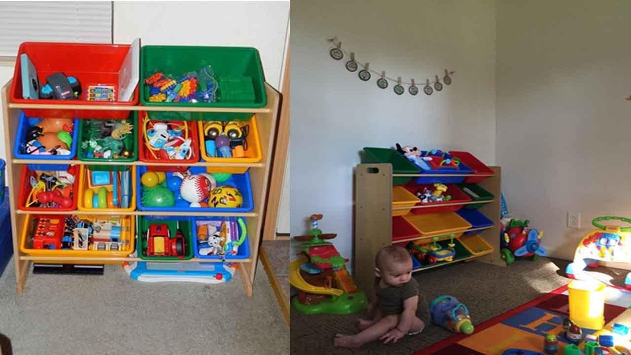 Tot Tutors Toy Storage Organizer How To Store Kids Toys?   YouTube