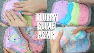 FLUFFY RAINBOW SLIME ASMR  SATISFYING SQUISHING, TAPPING, SCRATCHING SOUNDS