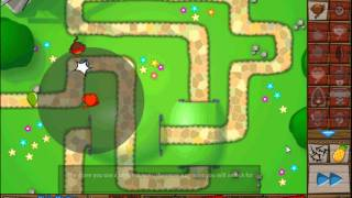 Bloons Tower Defence 5 Track 1 Hard Difficulty Part 1