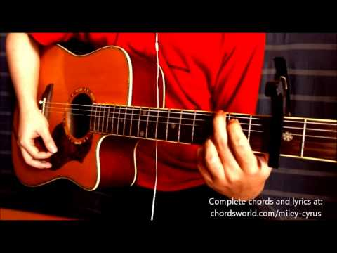 Wrecking Ball Chords by Miley Cyrus - How To Play - chordsworld.com