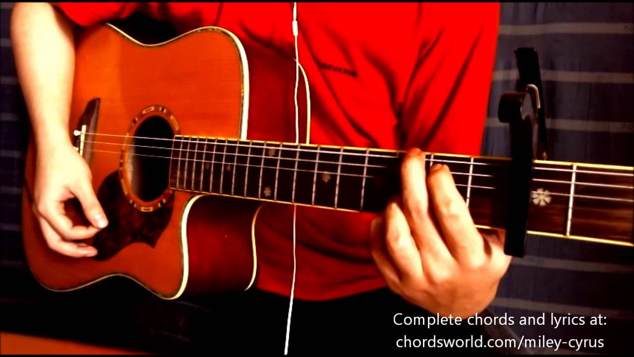 Wrecking Ball Chords By Miley Cyrus How To Play Chordsworld