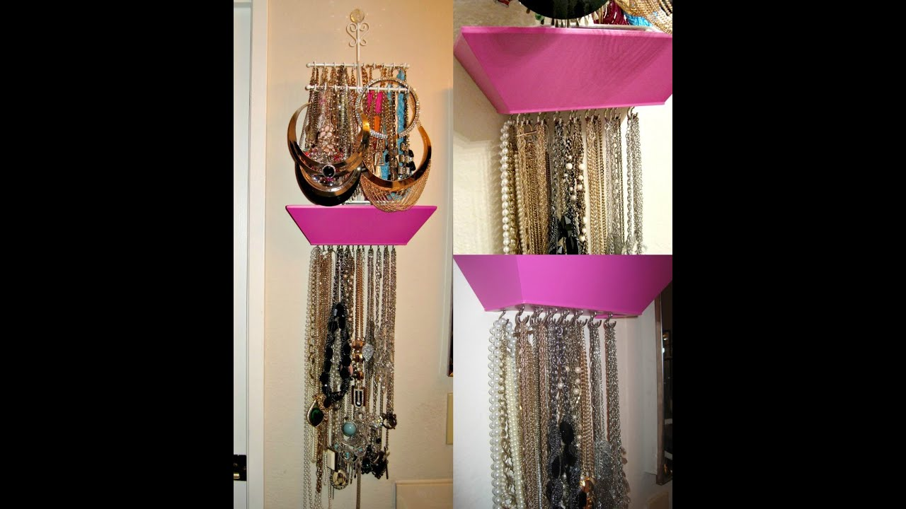 Diy Necklace Holder Diy Jewelry Necklace Holder Youtube
