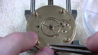 How I take apart a pocket watch and repair ratchet wheel, Elgin