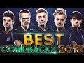 BEST COMEBACKS of 2018 - Dota 2