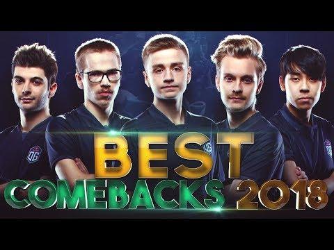 BEST COMEBACKS of 2018 - Dota 2 thumbnail