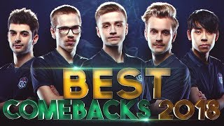 BEST COMEBACKS of 2018 - Dota 2
