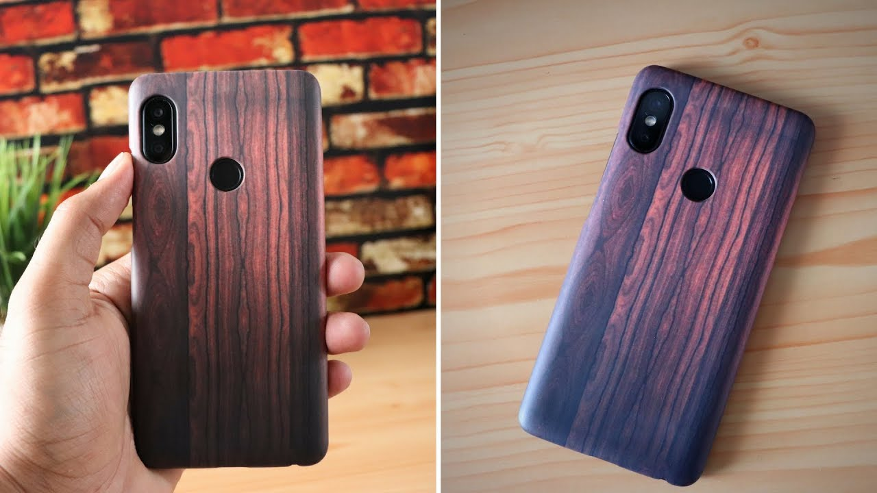 new style bb6fb abb31 redmi note 5 pro wooden texture back cover