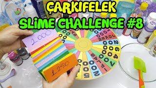 Çarkıfelek Slime Challenge #8 - BÜYÜK Şanssızlık - Eğlenceli Slime Yarışması