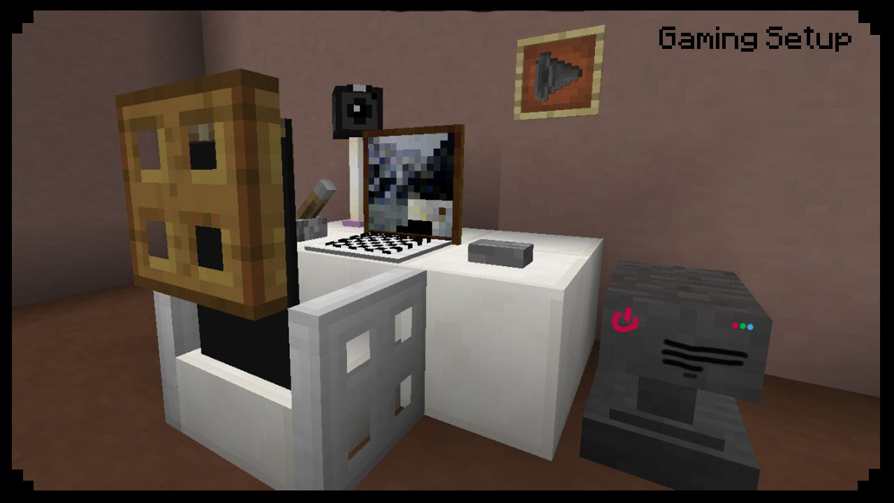 Minecraft how to make a gaming setup youtube How to make a gaming setup in your room