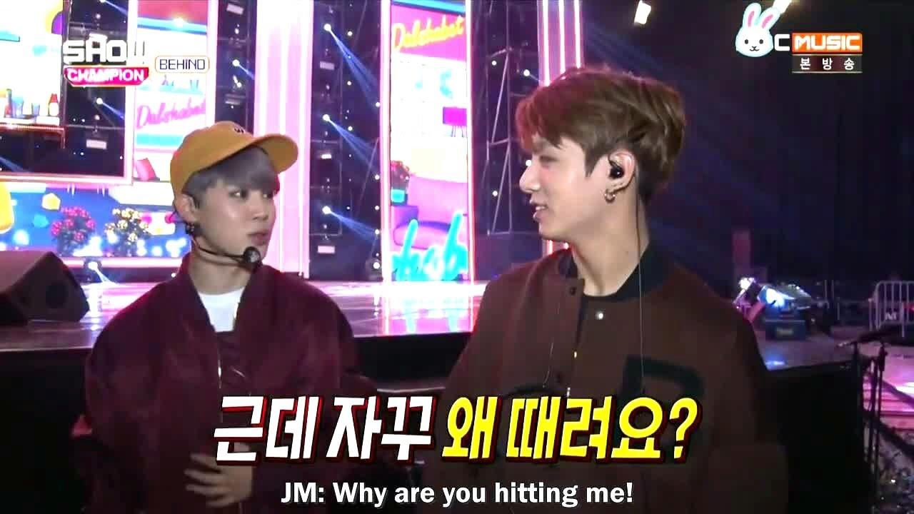 [ENG SUB] 161025 BTS Show Champion 지민 & 정국 JM & JK cut