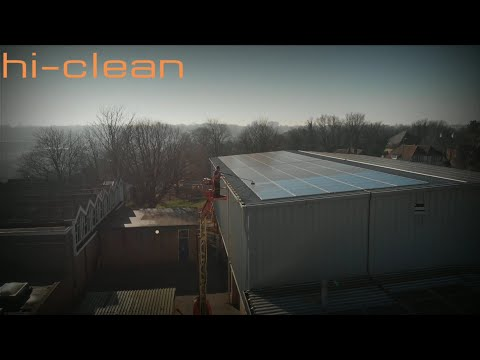 High level solar panel cleaning