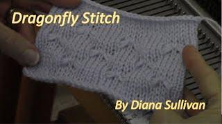 Dragonfly Stitch to Machine Knit by Diana Sullivan