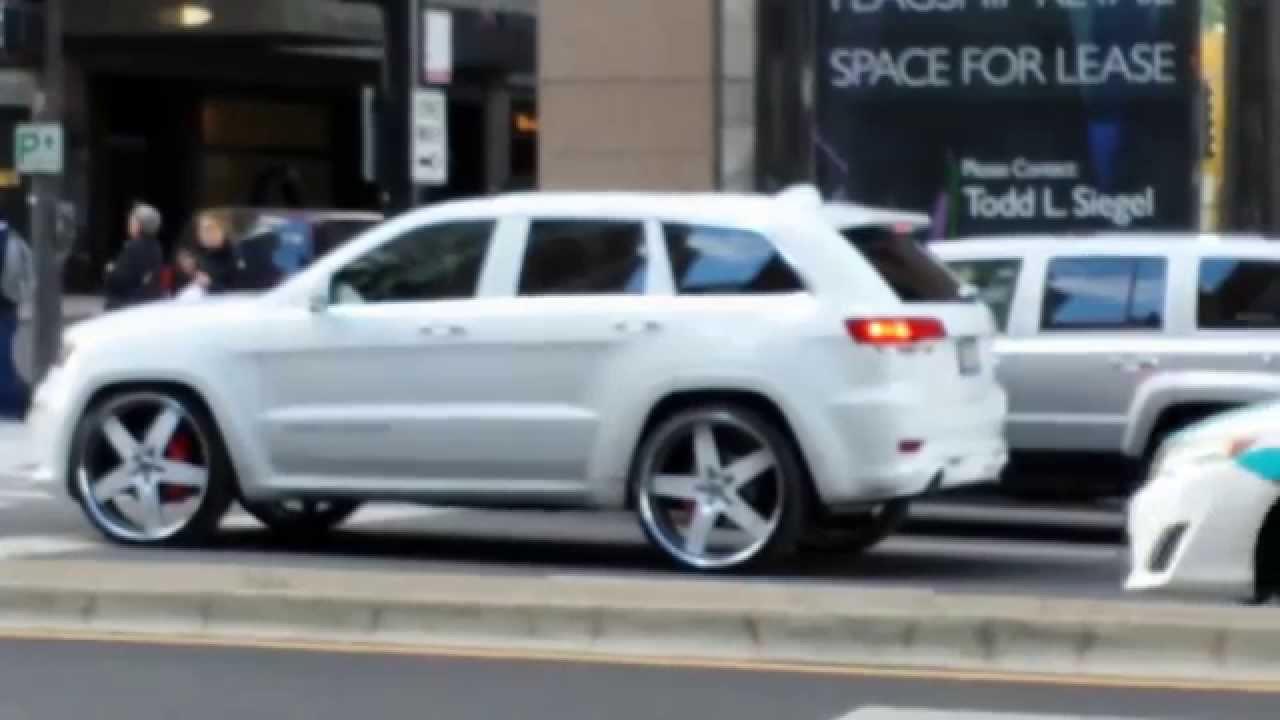 All White 2014 Srt8 Jeep Grand Cherokee On 26 Youtube