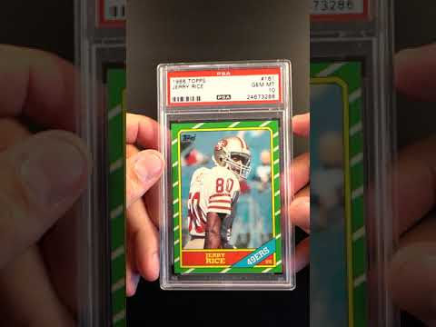 1986 Topps Football Jerry Rice Rookie Rc 161 Psa 10 Gem Mint Pwcc Ends 63019