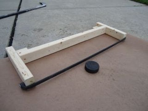 How to Make a Hockey Puck Rebounder: Less than 6 Bucks! - YouTube