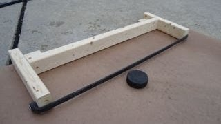 How to Make a Hockey Puck Rebounder: Less than 6 Bucks!
