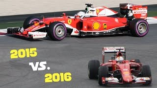 F1 Sound Battle 2015 vs. 2016 - Ferrari, Honda, Mercedes, Renault
