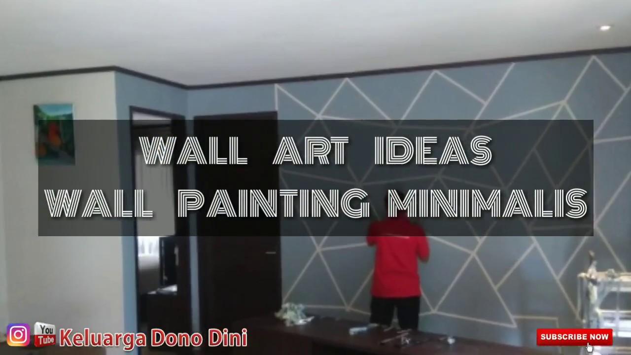 DIY Wall art painting, cat minimalis hasil maksimal