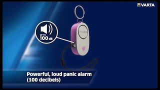 This stylish 2in1 key chain light and safety alarm is a must-have for any ring.http://www.varta-consumer.com/en/products/flashlights/overview/women/safet...