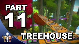 The Witness Walkthrough #11 -  Treehouse and Bridges Puzzle Solutions (Activating Treehouse Laser)