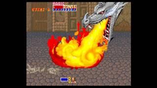 Golden Axe (set 6, US, 8751 317-123A) - golden axe arcade playthrough 60 fps - User video