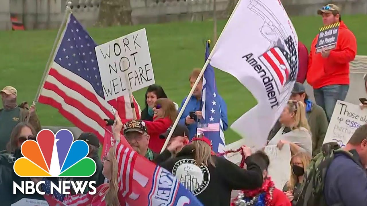 Protesters In Pennsylvania Say Coronavirus Lockdown Is An 'Overreaction' | NBC News NOW