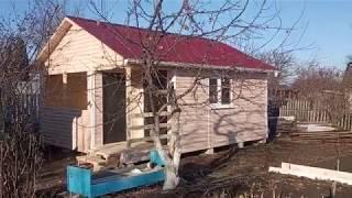 Дачный дом 6х5 с угловой террасой