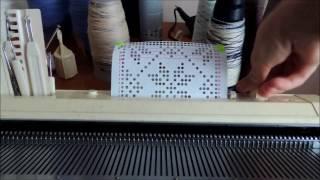Вяжем жаккард на одной фонтуре по перфокарте  Бразер