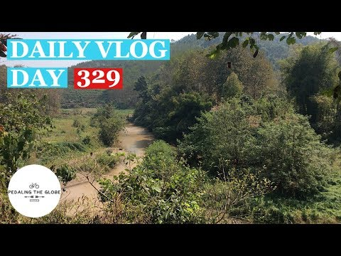 Daily Vlog - Trip Diary - Day 329 - Low Energy Kinda Day. Cycling Laos