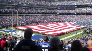 US National Anthem Star-Spangled Banner at Giants vs. Cardinal Game (200th year celebration)