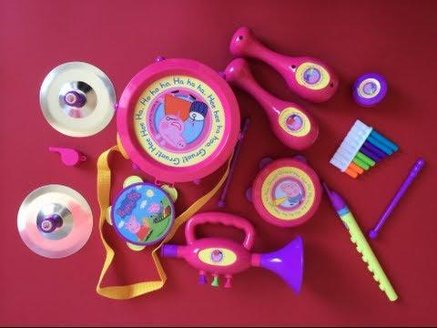 Peppa Pig Toys - Peppa Pig Musical Instruments Band Set! Compilation!