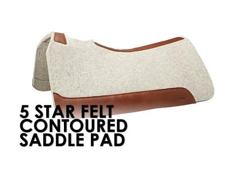 5 Star Felt Contoured Western Saddle Pads - YouTube