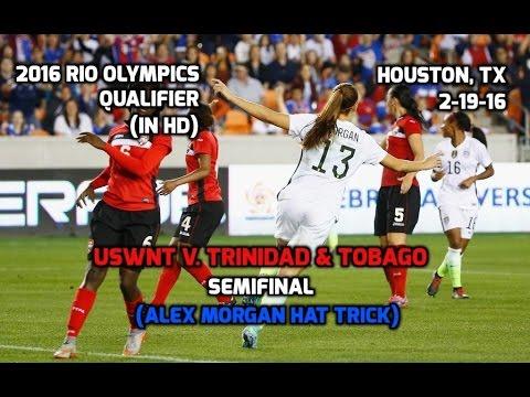 ba55f7cecb6 USWNT v. Trinidad   Tobago  HD Rio Olympics Qualifier Semifinal w Pre-