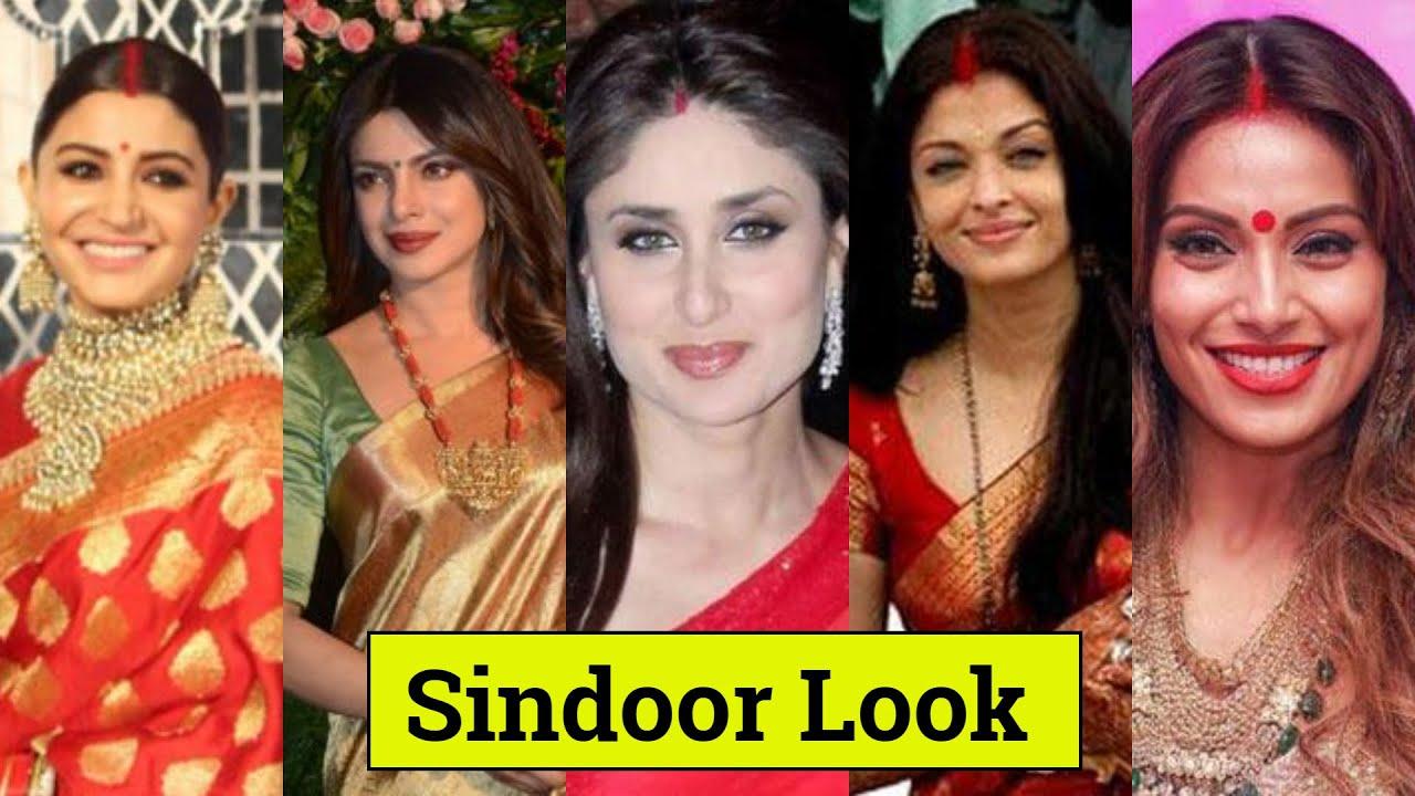 7 Bollywood Actress Sindoor Look   Priyanka Chopra , Deepika Padukone ,  Bipasha Basu , Shilpa Shetty