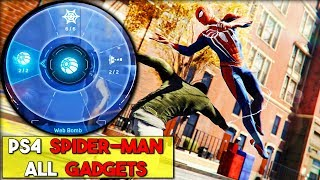 Marvel's PS4 Spider-man ALL Gadgets (So Far) + How to unlock