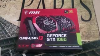 MSI GeForce GTX 1060 Gaming X 6G - Kutu Açılımı