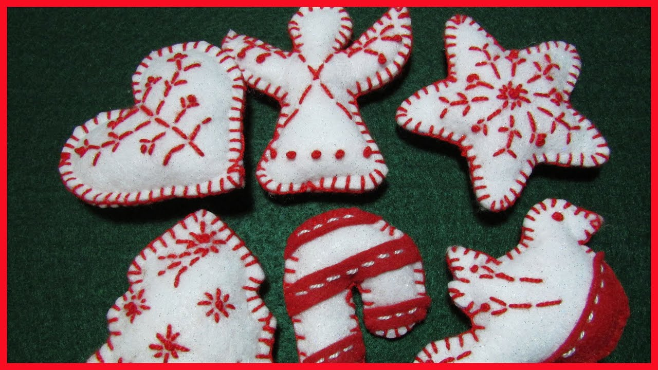 Christmas felt ornaments - Christmas Felt Ornaments 26