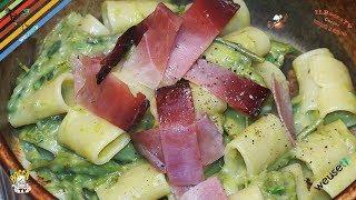 288 - Mezze maniche asparagi, speck e taleggio...chi un lo mangia è proprio 'r peggio (primo facile)