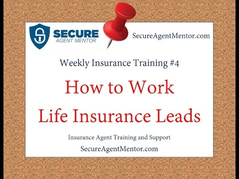 Weekly Insurance Training #4: How to Properly Work Life Insurance Leads