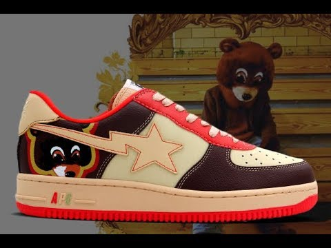 c6ea63d9a KANYE WEST COLLEGE DROPOUT BAPESTA BAPE REVIEW - YouTube
