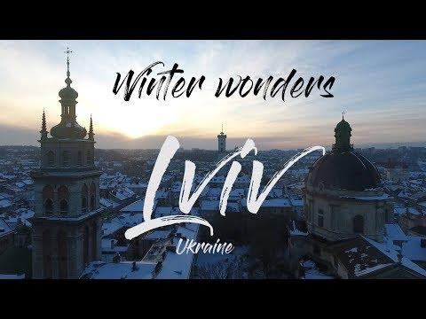 Winter wonders of Christmas 2018 in Lviv, Ukraine