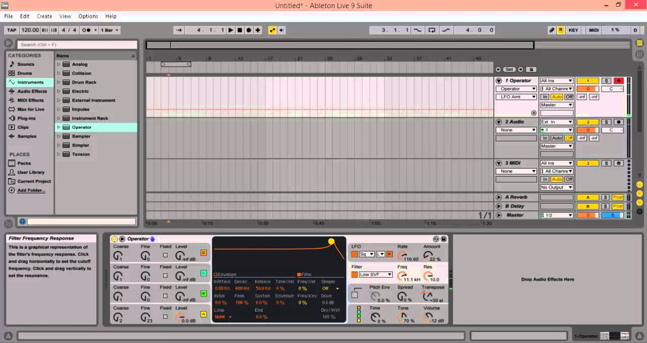How to phone sound (Ableton Live 9)