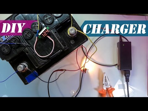 How to Charge 12V Car Battery with 19V Laptop charger | DIY Car Battery Charger