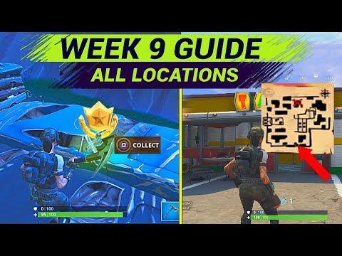 Fortnite WEEK 9 CHALLENGES - Follow The Treasure Map Found In Haunted Hills Fortnite Season 4