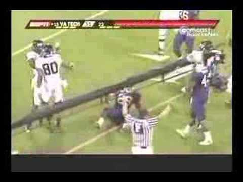 Virginia Tech Hokies Football - Big Hits from Clemson 07